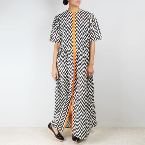 Chevron Maxi Dress by NAKITA SINGH