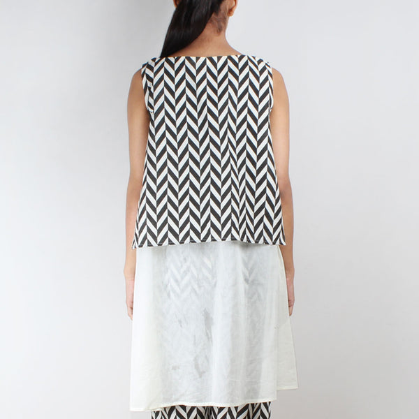 Chevron Organic Cotton Overlay Tunic