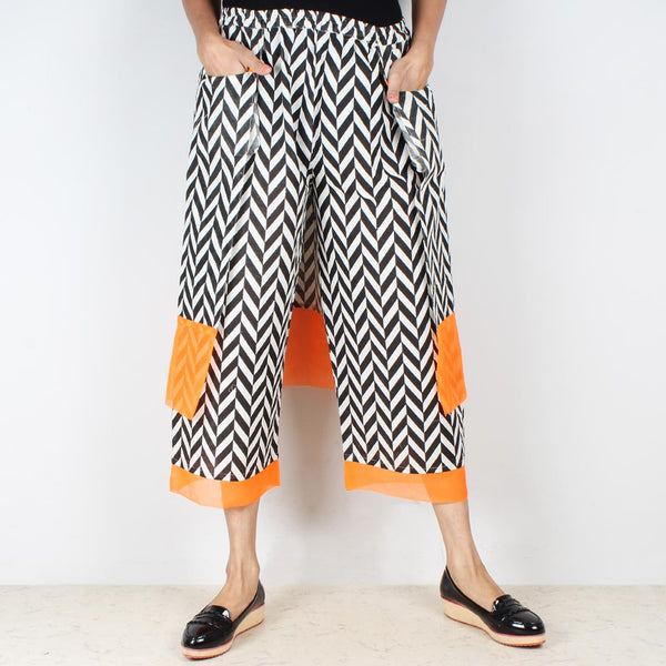 Set Of Chevron Cotton Shirt With Overlap Pajama Pants