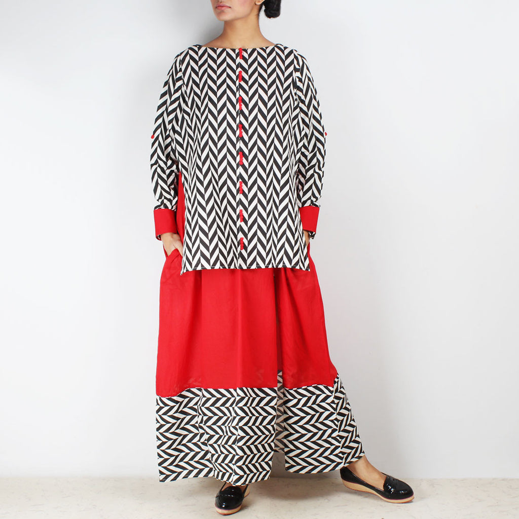 Two Layer Over Size Maxi Dress by NAKITA SINGH