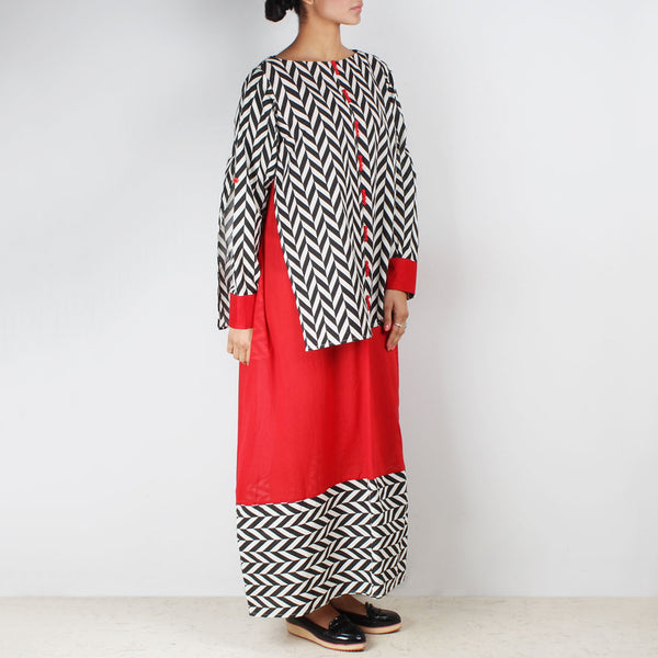 Two Layer Over Size Maxi Dress