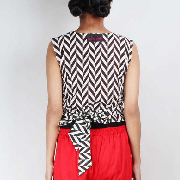 Chevron Tie Up Vest