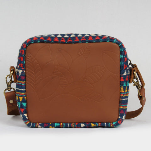 Multi Color Small Box Cross Body Leather Bag by Neonia
