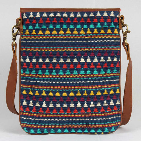 Multi Color Side Sling Cotton Handloom Bag by Neonia