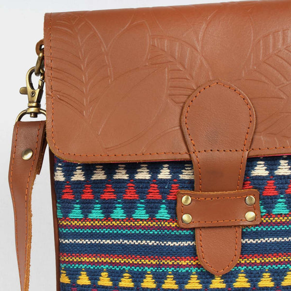 Multi Color Side Sling Cotton Handloom Bag