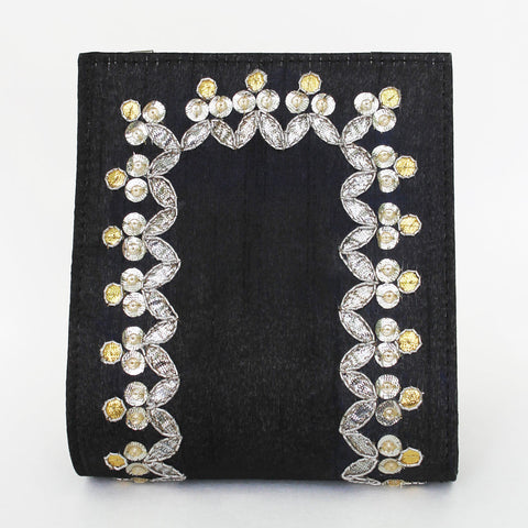 Black Gota Patti Clutch by Neonia