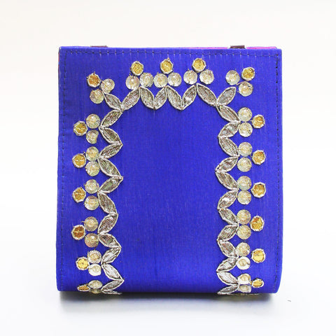 Electric Blue Gota Patti Clutch by Neonia