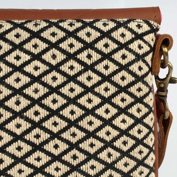 Side Sling Brown Handloom Cotton Bag