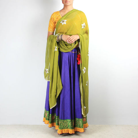 Khadi gota work chaniya & dupatta set by NOYA
