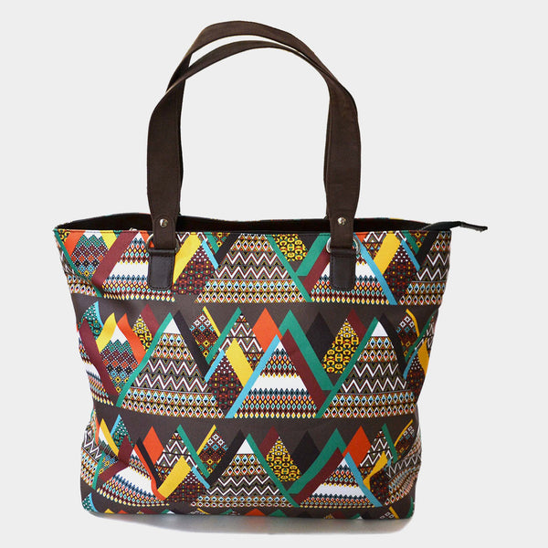 Multicolour Mountain Poly Suede Hand Bag by Noorani Biswas
