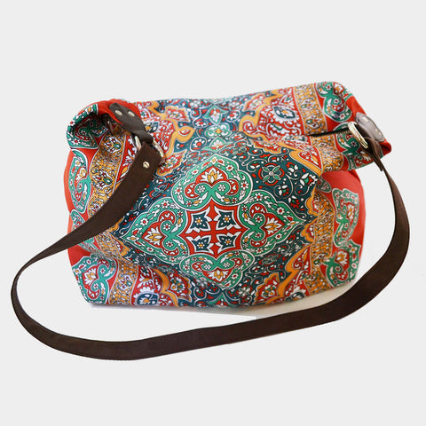 Multicolour Rug Poly Suede Jhola Bag by Noorani Biswas