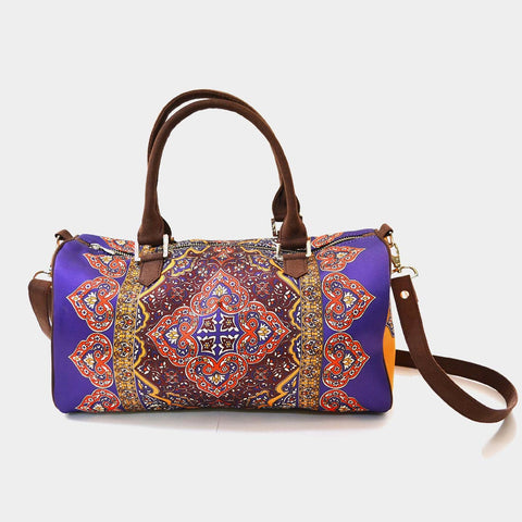 Purple Rug Poly Suede Duffle Bag by Noorani Biswas