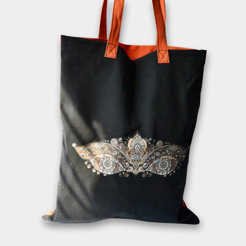 Eye Tote (Black) by Noorani Biswas