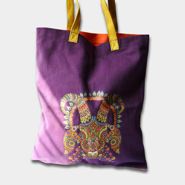 Aries Tote Purple