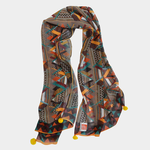 Abstract Scarf by Noorani Biswas