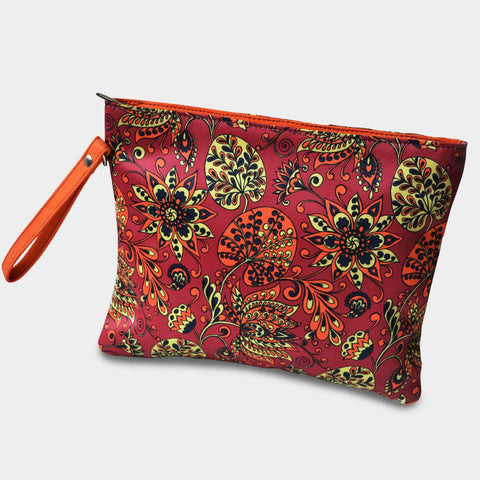 Pink Floral Pouch by Noorani Biswas