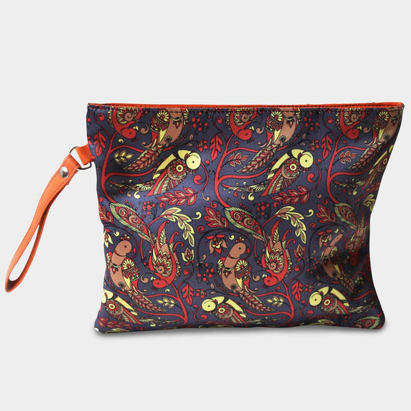 Purple Parrot Pouch by Noorani Biswas