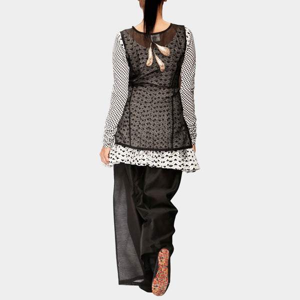 Short Anarkali With Chanderi Kurta Set