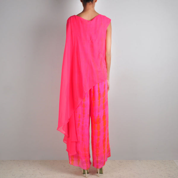 Pink Cape Jumpsuit
