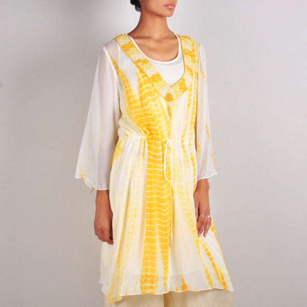 Yellow Drawstring Tunic by Palanquine