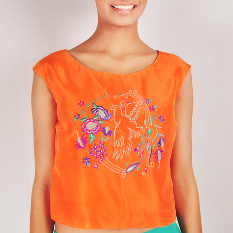 Birds of Paradise Crop Top by Renee