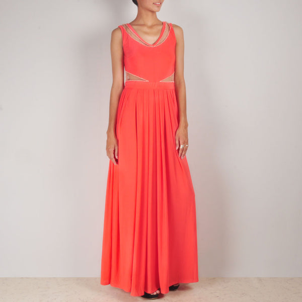 Coral Serene Gown by Rene