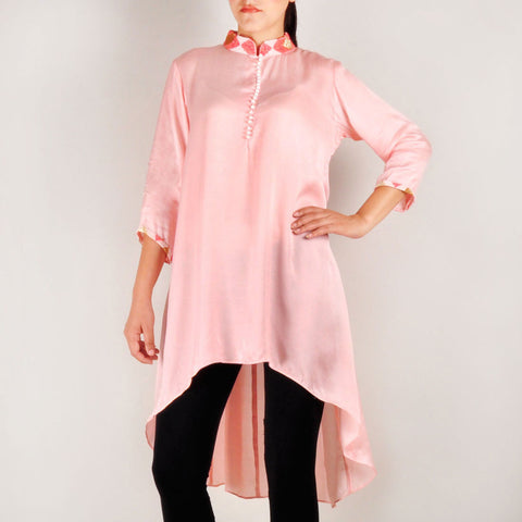 Melon Pearl High Low Tunic by Rene