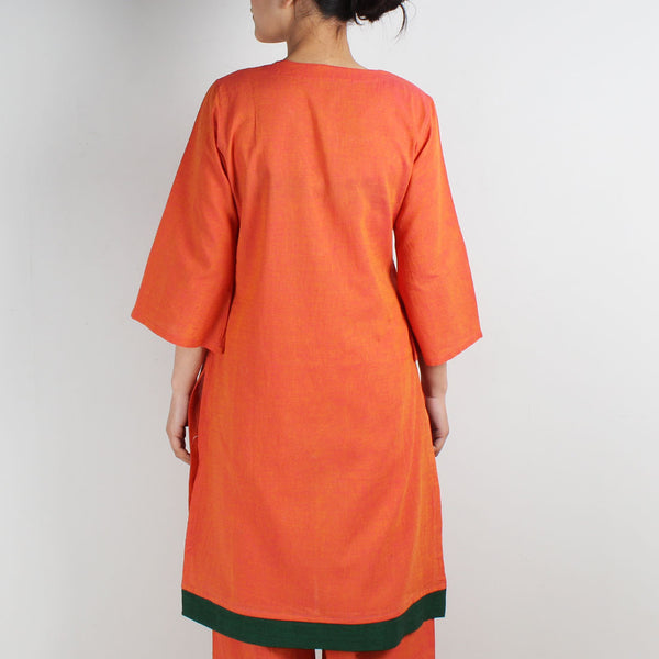 Cotton Tunic With Bird And Post Box Motifs