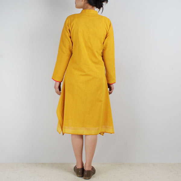 Cotton Dress With Asymmetric Sides