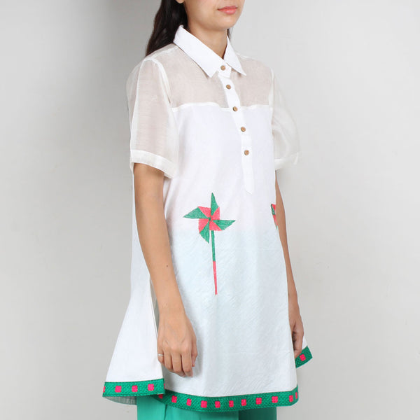 White South Cotton Shirt Dress