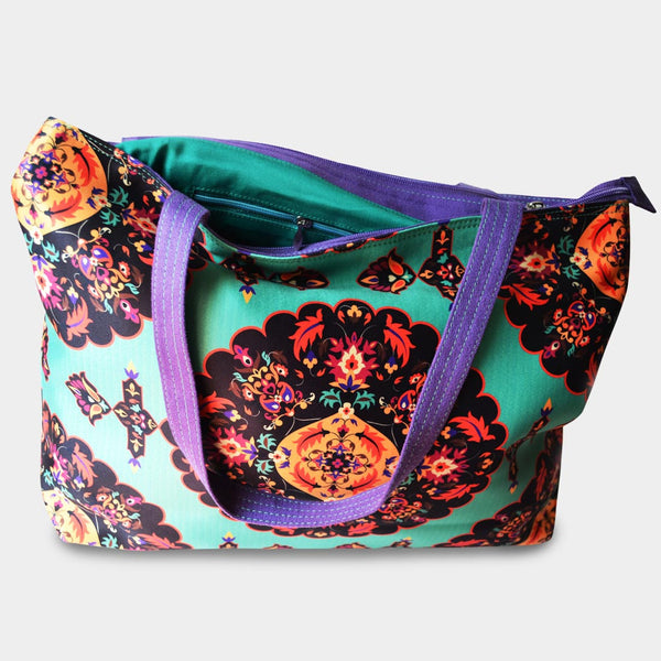 Floral Turquoise Bag