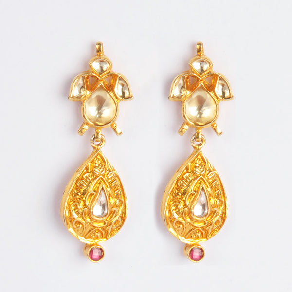 Gold Plated Sterling Silver Drop Earrings
