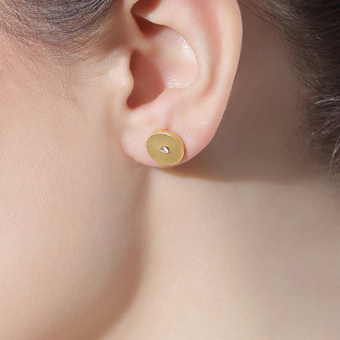 Golden Stud Earring by Silvermerc Designs