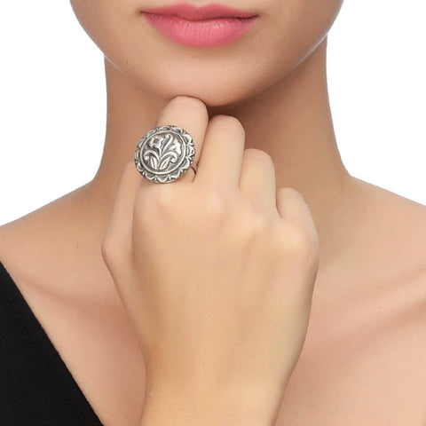 Floral Sterling Silver Ring by Silvermerc Designs