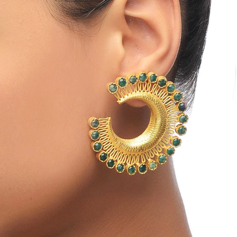 Gold Plated Chand Balis by Silvermerc Designs