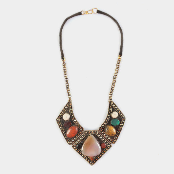 Dark Shade Stones Ottoman Imperium Necklace