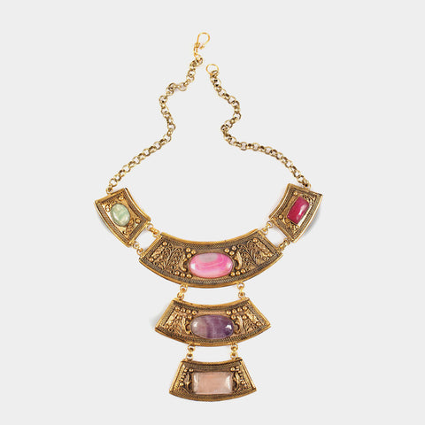 Elegant Three Drop Empress Necklace by Suman Mishra Jewelry