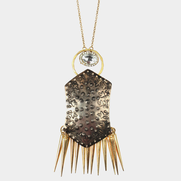 Shield Spikes Necklace