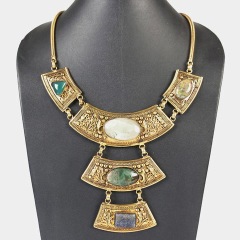 Three-Tier Goddess Necklace by Suman Mishra Jewelry
