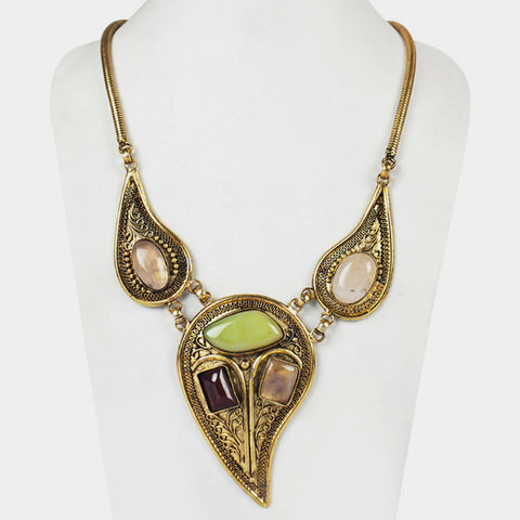 Three Drop Empress Necklace by Suman Mishra Jewelry
