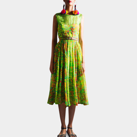 Parrot Green Dress by SAMOR BY PRAGYA & MEGHA