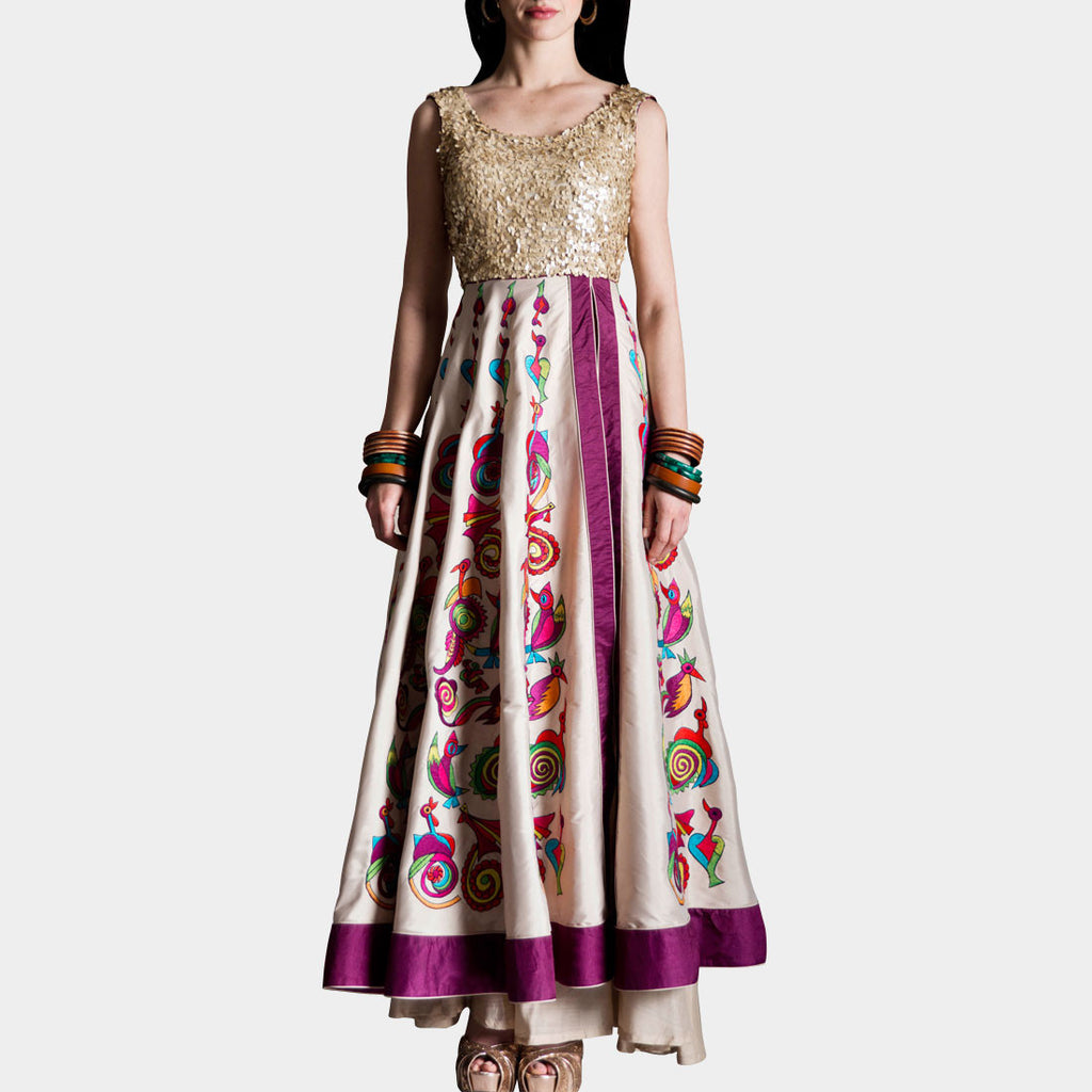 Pink Georgette Dress by SAMOR BY PRAGYA & MEGHA