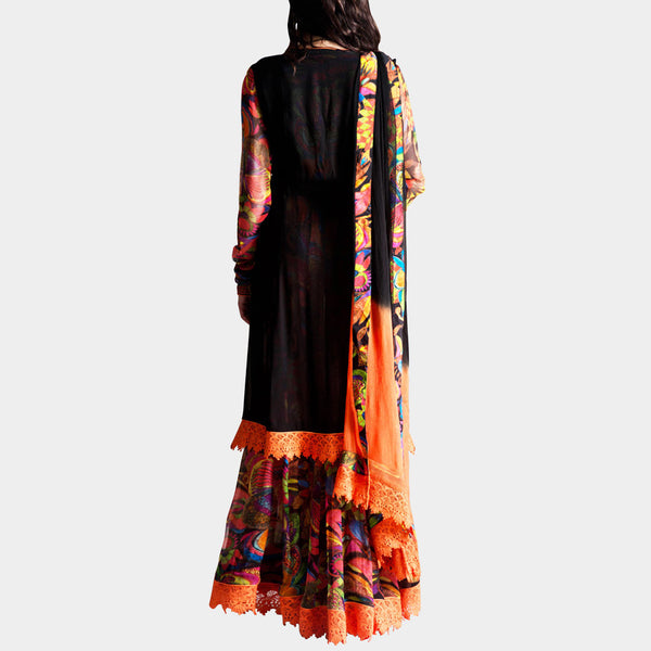 Black Double Kurta Anarkali