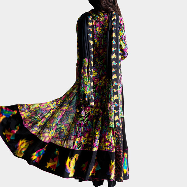Blak Georgette Kurta With Palazzos