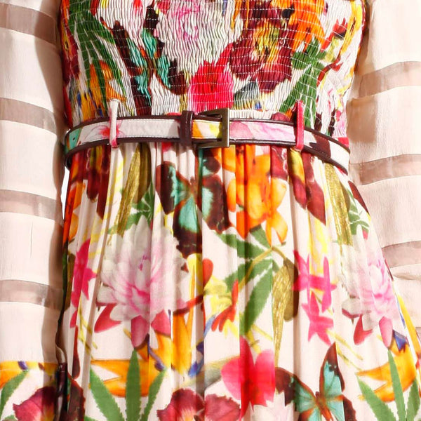 Floral Printed Ruffled Dress