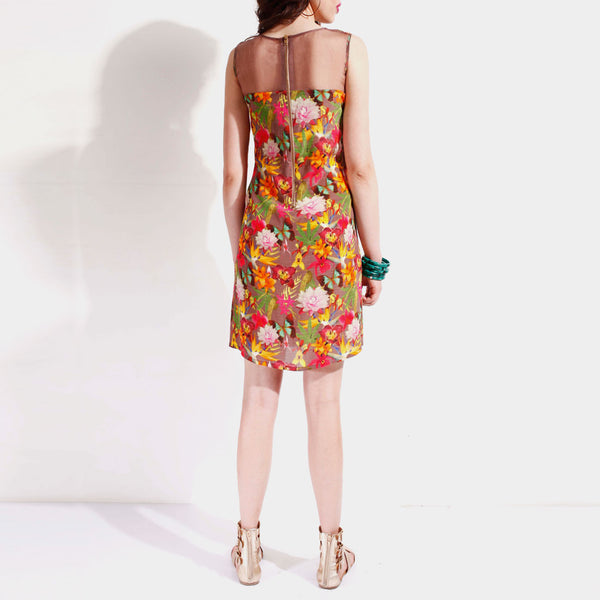 Georgette Floral Shift Dress