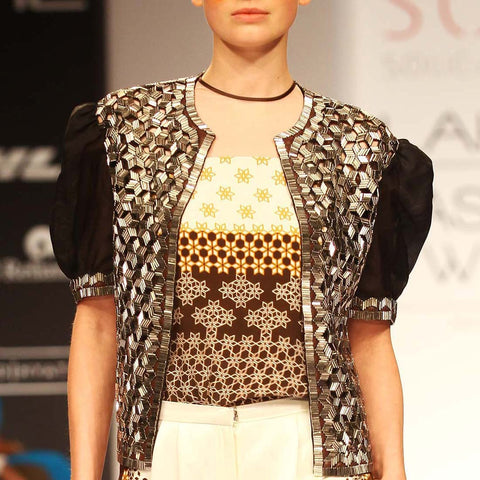 Metallic Beaded Jacket by SOUP by Sougat Paul
