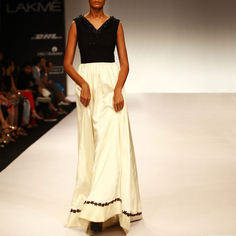 Monochrome Gown by SOUP by Sougat Paul
