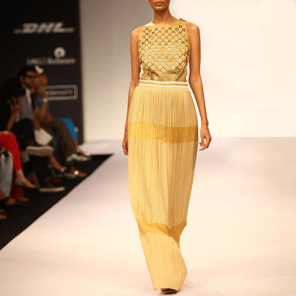 Kundan Embellished Gown by SOUP by Sougat Paul