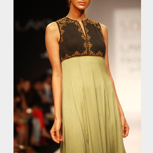 Green Kalidar Gown